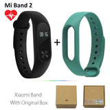 Original Xiaomi Mi Band 2 1S 1 Smart Wristband Bracelet xiomi miband2 Heart Rate Fitness Tracker miband band2 For IOS Android-Devices Depot-2 Add Green-United States-KoolWish.com