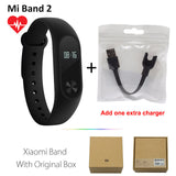 Original Xiaomi Mi Band 2 1S 1 Smart Wristband Bracelet xiomi miband2 Heart Rate Fitness Tracker miband band2 For IOS Android-Devices Depot-2 Add Extra Charger-United States-KoolWish.com