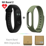 Original Xiaomi Mi Band 2 1S 1 Smart Wristband Bracelet xiomi miband2 Heart Rate Fitness Tracker miband band2 For IOS Android-Devices Depot-2 Add GreenW Strap-United States-KoolWish.com