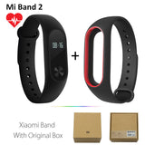 Original Xiaomi Mi Band 2 1S 1 Smart Wristband Bracelet xiomi miband2 Heart Rate Fitness Tracker miband band2 For IOS Android-Devices Depot-2 Add BlackR Strap-United States-KoolWish.com