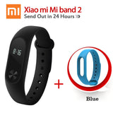 Original Xiaomi Mi Band 2 1S 1 Smart Wristband Bracelet xiomi miband2 Heart Rate Fitness Tracker miband band2 For IOS Android-Devices Depot-2 Add Blue Strap-United States-KoolWish.com
