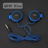 ShiniQ940 Free Shipping Headphones 3.5mm Headset EarHook Earphone For Mp3 Player Computer Mobile Telephone Earphone Wholesale-Headphones-Devices Depot-Q940 Blue-KoolWish.com