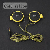 ShiniQ940 Free Shipping Headphones 3.5mm Headset EarHook Earphone For Mp3 Player Computer Mobile Telephone Earphone Wholesale-Headphones-Devices Depot-Q940 Yellow-KoolWish.com