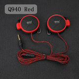 ShiniQ940 Free Shipping Headphones 3.5mm Headset EarHook Earphone For Mp3 Player Computer Mobile Telephone Earphone Wholesale-Headphones-Devices Depot-Q940 Red-KoolWish.com