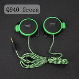 ShiniQ940 Free Shipping Headphones 3.5mm Headset EarHook Earphone For Mp3 Player Computer Mobile Telephone Earphone Wholesale-Headphones-Devices Depot-Q940 Green-KoolWish.com