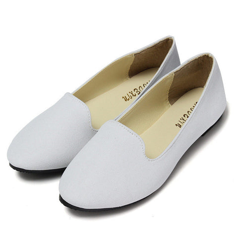 Spring Autumn Loafers Women Shoes Ladies Flat Shoes Ballet Flats Woman Ballerinas Casual Shoe Sapato Zapatos Mujer Womens Loafer-Shoes-Devices Depot-White-6.5-KoolWish.com
