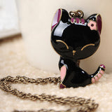 Vintage Necklaces Women Owl Feather Heart Butterfly Cat Pendant Necklace Antique Collares Fashion Jewelry Bijoux One Direction-Necklaces-Devices Depot-N141-KoolWish.com