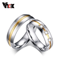 Vnox Vintage Wedding Ring for Women / Men CZ Stone 316l Stainless Steel Metal-Jewelries-Devices Depot-5-1 piece for men-KoolWish.com