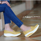 Women leather shoes female wholesale flats shoes girl casual comfort low heels flat loafers nurse shoes-Devices Depot-as picture like 15-4.5-KoolWish.com