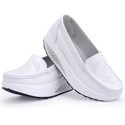 Women leather shoes female wholesale flats shoes girl casual comfort low heels flat loafers nurse shoes-Devices Depot-as picture like-4.5-KoolWish.com