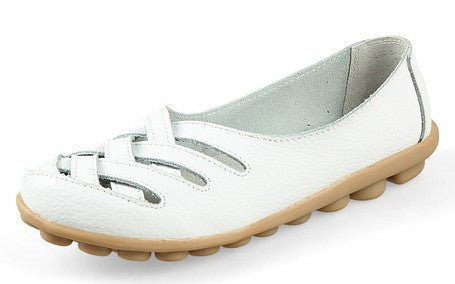 Women Sandals Summer Shoe 2017 New Female Fashion Split Leather Hollow Out Nurses Working Cow Muscle Gladiator Flats Shoes-Devices Depot-White-4-KoolWish.com