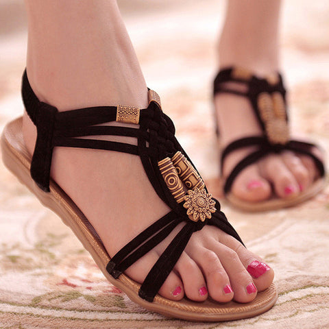 Women Shoes Sandals Comfort Sandals Summer Flip Flops 2016 Fashion High Quality Flat Sandals Gladiator Sandalias Mujer-Devices Depot-Black-5.5-KoolWish.com