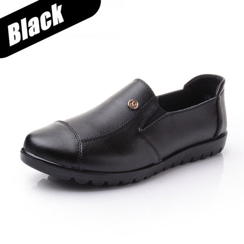 Women's Shoes Woman Female Oxford Genuine Leather Brand Casual Flats Mother Sapato Feminino Schuhe Zapatos Loafers Shoes DNF8011-Devices Depot-black-4-KoolWish.com