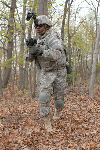 U.S. Army soldier wearing the IOTV