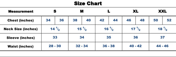 SafeGuard Armor Sizing Chart