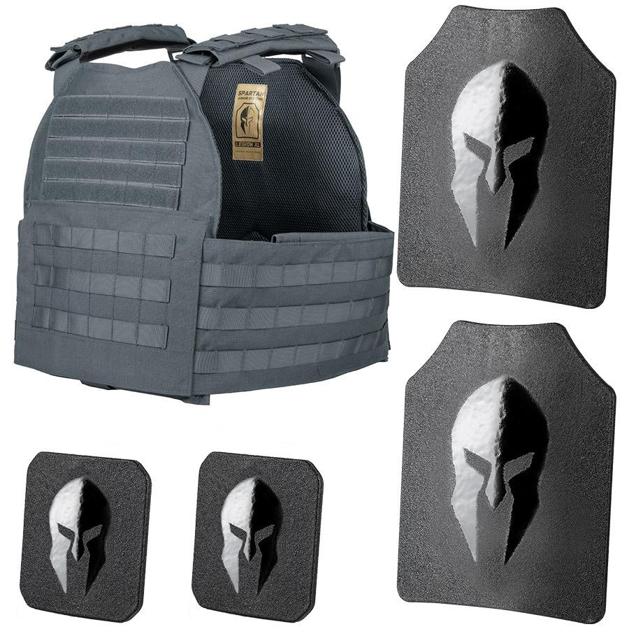 SPARTAN ARMOR SYSTEMS LEVEL III+ AR550 AND LEGION XL PLATE CARRIER PACKAGE