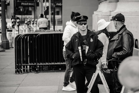 image of a police officer on the street