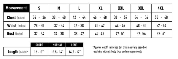 SafeGuard Armor Ghost Concealed Bullet Proof Vest Body Armor Female Sizing Chart