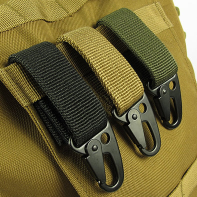 Military Strength Tactical Metal and Velcro Loop Carabiner