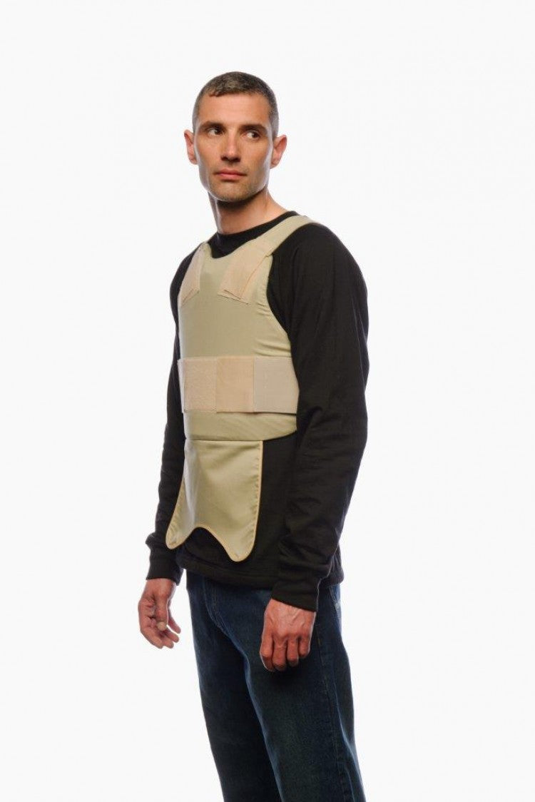 Model wearing the Blade Runner Anti-Stab Covert Vest