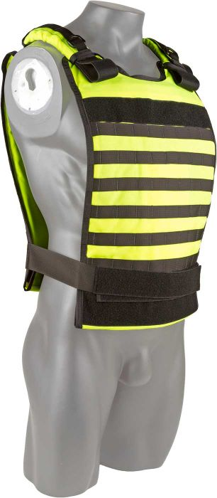 Front view of the North American Rescue Tactical Responder Vest MKII in Yellow