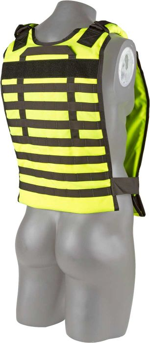 Back view of the North American Rescue Tactical Responder Vest MKII in Yellow