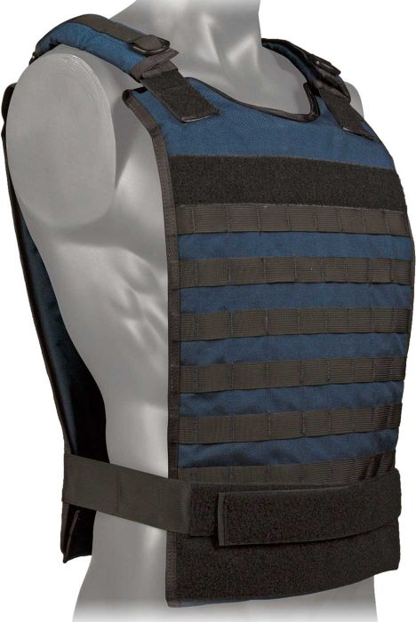 Front view of the North American Rescue Tactical Responder Vest MKII in Blue