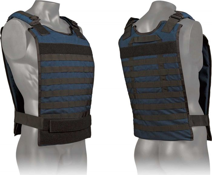 Front and Back view of the North American Rescue Tactical Responder Vest MKII in Blue