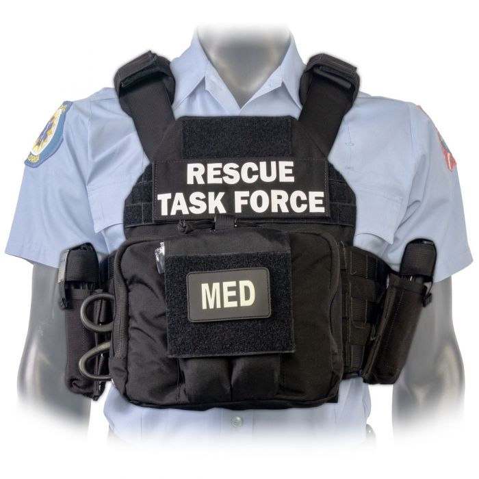 North American Rescue PH2 Shooters Cut Rescue Task Force Vest Kit in Black