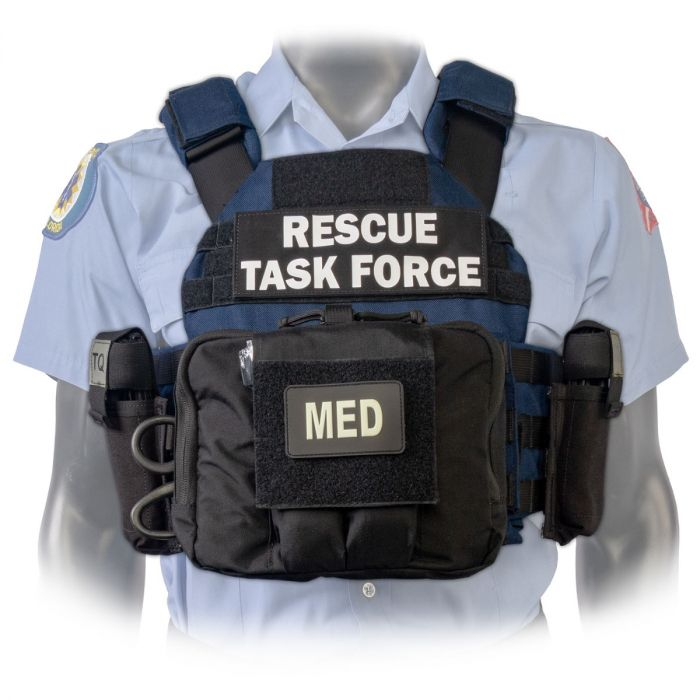North American Rescue PH2 Shooters Cut Rescue Task Force Vest Kit in Blue