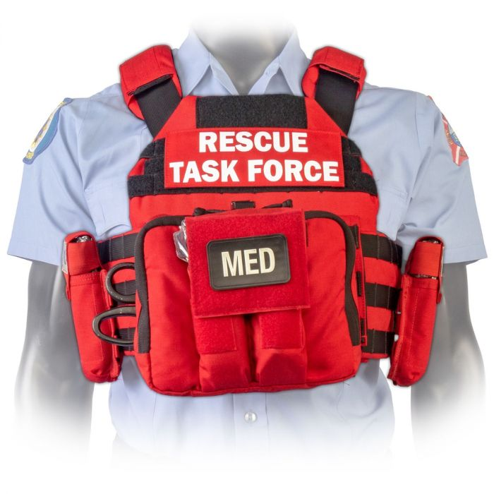 North American Rescue PH2 Shooters Cut Rescue Task Force Vest Kit in EMS Red