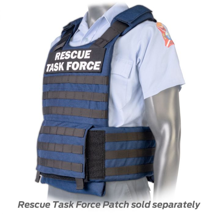 North American Rescue PH3 Ballistic Tactical Plate Harnesses with Cummerbund in Blue