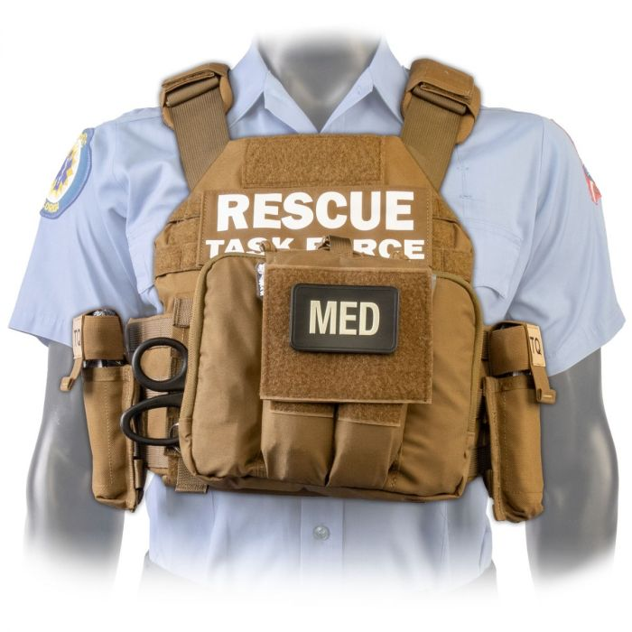 North American Rescue PH2 Shooters Cut Rescue Task Force Vest Kit in Coyote