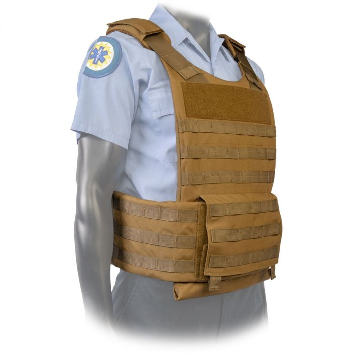 North American Rescue PH3 Ballistic Tactical Plate Harnesses with Cummerbund in Coyote