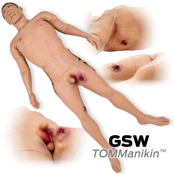 North American Rescue TOMManikin Gunshot Wound Training Mannequin