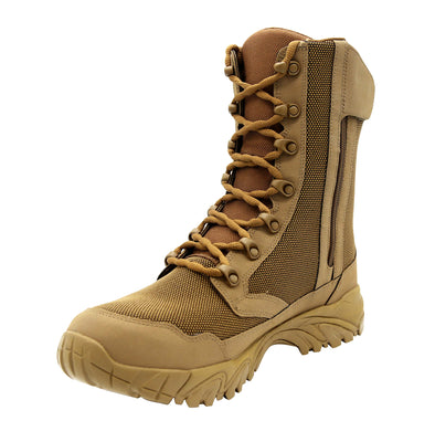 "ALTAI Brown Hunting Waterproof Zip Up 8"" Boots (MFH200-Z)"