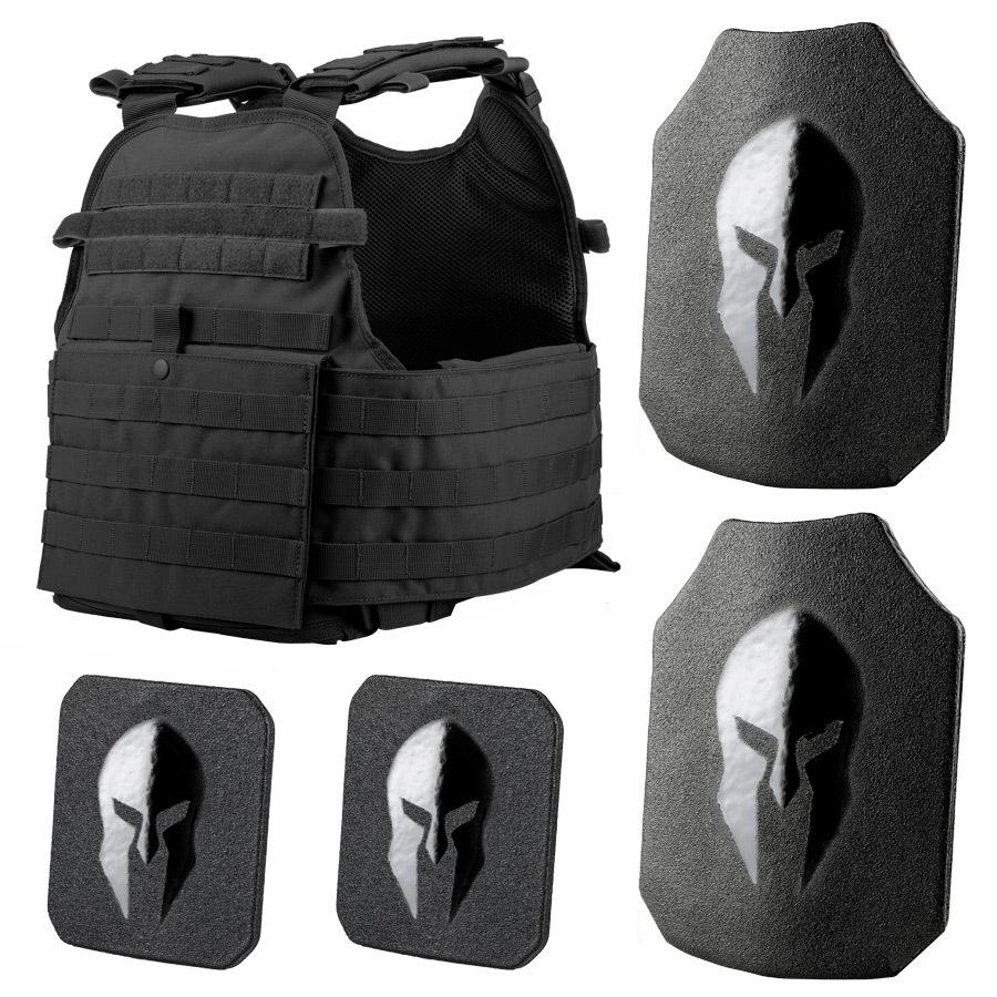 Spartan MOPC Plate Carrier and Level III+ AR550 Body Armor