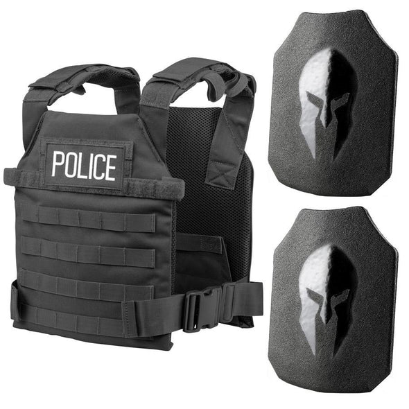 Spartan Armor Systems AR550 Level III+ Active Shooter Kit / Police Tactical Gear Package