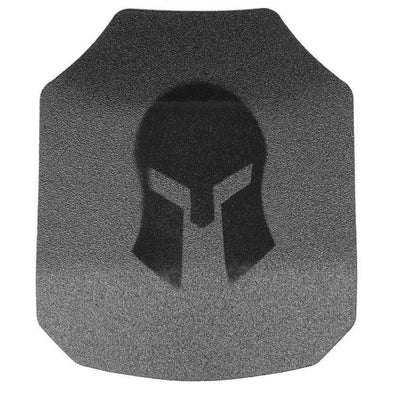 Spartan Armor AR550 Level III+ 8x10 Shooters Cut Body Armor Plates - Set of Two