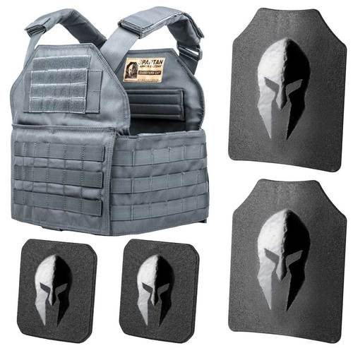Spartan Armor Systems AR550 Level III+ Shooters Cut Plate Carrier Package
