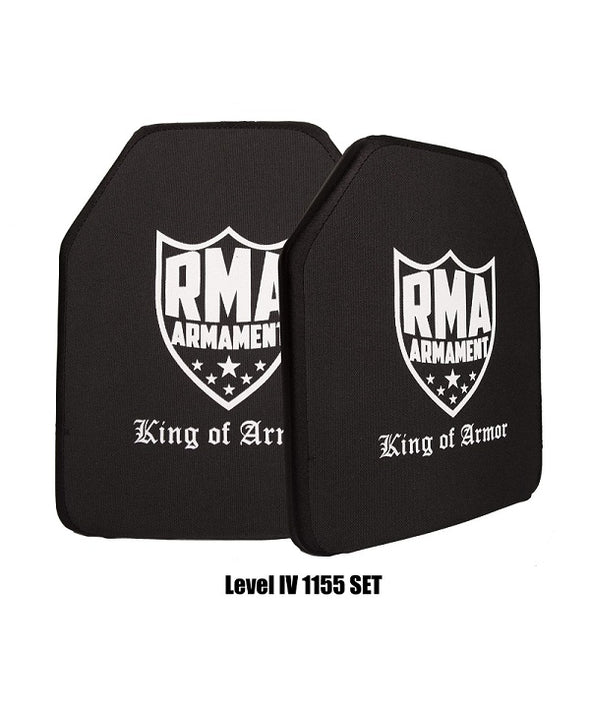 RMA Defense Level IV NIJ .06 Certified Hard Armor Plate Set of 2