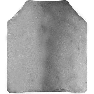 Spartan AR500 Omega 10x12 Shooters Cut Single Plate (Raw Steel) Body Armor