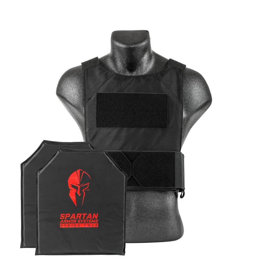 Spartan Armor Level IIIA Soft Body Armor & DL Concealed Plate Carrier in Black