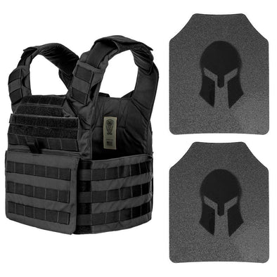 Spartan Armor AR500 Level III Omega Body Armor Wolfbite Tactical Helix Carrier Package