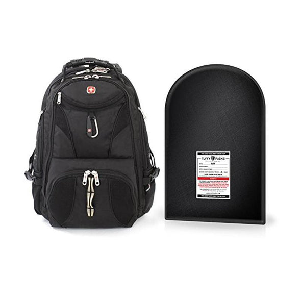 SwissGear ScanSmart Backpack + Level IIIA Bulletproof Armor Plate Package