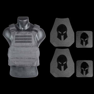 Spartan Armor AR550 Level III+ Swimmers Cut Plate Carrier Package
