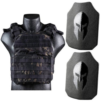 Spartan Armor Systems AR550 Level III+ Armor Plates and Cyclone Lightweight Sentry Plate Carrier Package
