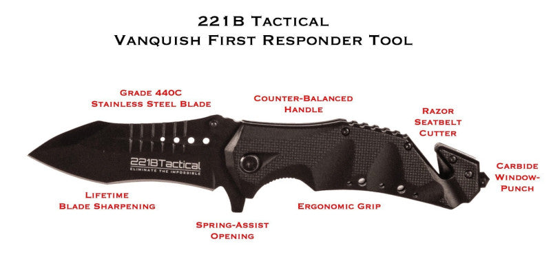 221B Tactical Vanquish First Responder (FRX) Tool