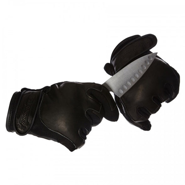 Blade Runner Level 2 Cut Resistance Leather Neoprene Gloves w/ Knuckle Protection
