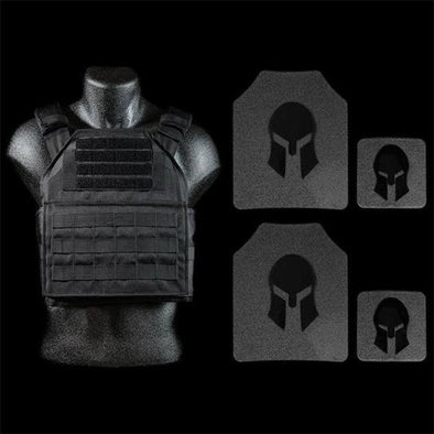 Spartan Armor AR650 Level III+ Lightweight Shooters Cut Plate Carrier Package